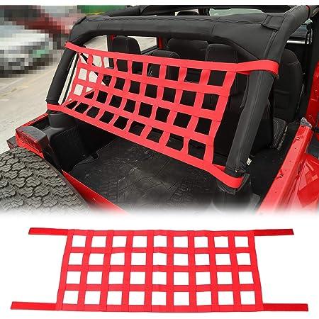 Red JK Cargo Net 3 Set Cargo Net Cover for 2007-2018 Jeep Wrangler JK JKU 2 Door 4 Door
