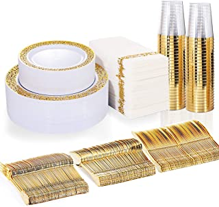 Best cream and gold plastic plates Reviews