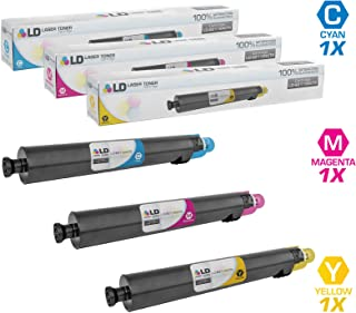 LD Compatible Toner Cartridge Replacement for Ricoh Aficio SP C830 C831DN (Cyan, Magenta, Yellow, 3-Pack)
