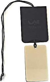 Markha Shower Shaving Mirror for Men Women - Small Hanging Travel Fogless Shave Mirror (Black)