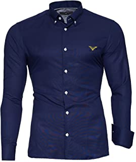 Kayhan Camisas Hombres Camisa Hombre Manga Larga Ropa Camisas de Vestir Slim fácil de Hierro Fit S M L XL XXL-6XL Modello ...