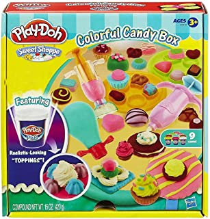 play doh colorful candy box