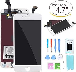 2bf52826d07 Ibaye Compatible Pantalla for iPhone 6 LCD de Repuesto Blanco diseño para  Pantalla táctil de 4