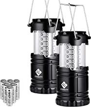 Etekcity Lantern LED Camping Lanterns, Battery Powered Camping Lights, Outdoor Flashlight, Suitable for Camping, Hiking, Survival kits for Emergency, Power Failure, Hurricane (Batteries included)