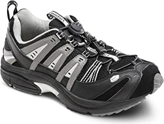 Dr. Comfort Men's Performance Black Grey Diabetic Athletic Shoes