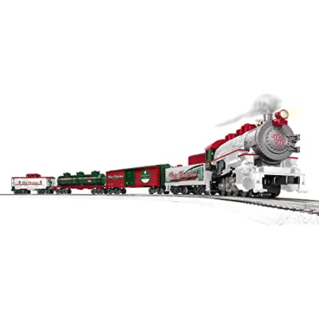 Lionel Winter Wonderland LionChief 0-8-0 Set with Bluetooth Capability, Electric O Gauge Train Set with Remote