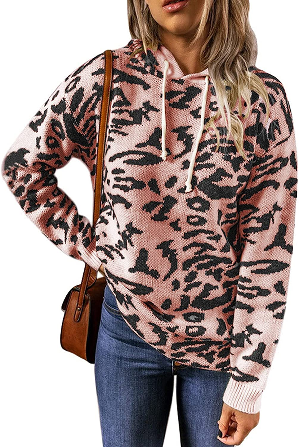 XINXX Women's Knitted Sweaters Long Max 67% OFF Max 74% OFF Pullo Sleeve Crewneck Hoodie