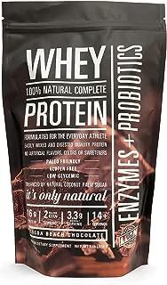 Lean Sense Whey Protein Powder w/Probiotics & Enzymes. Low Carb. Cocoa Beach Chocolate (Chocolate)