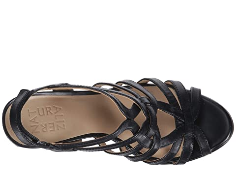 Dust Leather Flora Metallic LeatherSilver Naturalizer Black awfCYxq