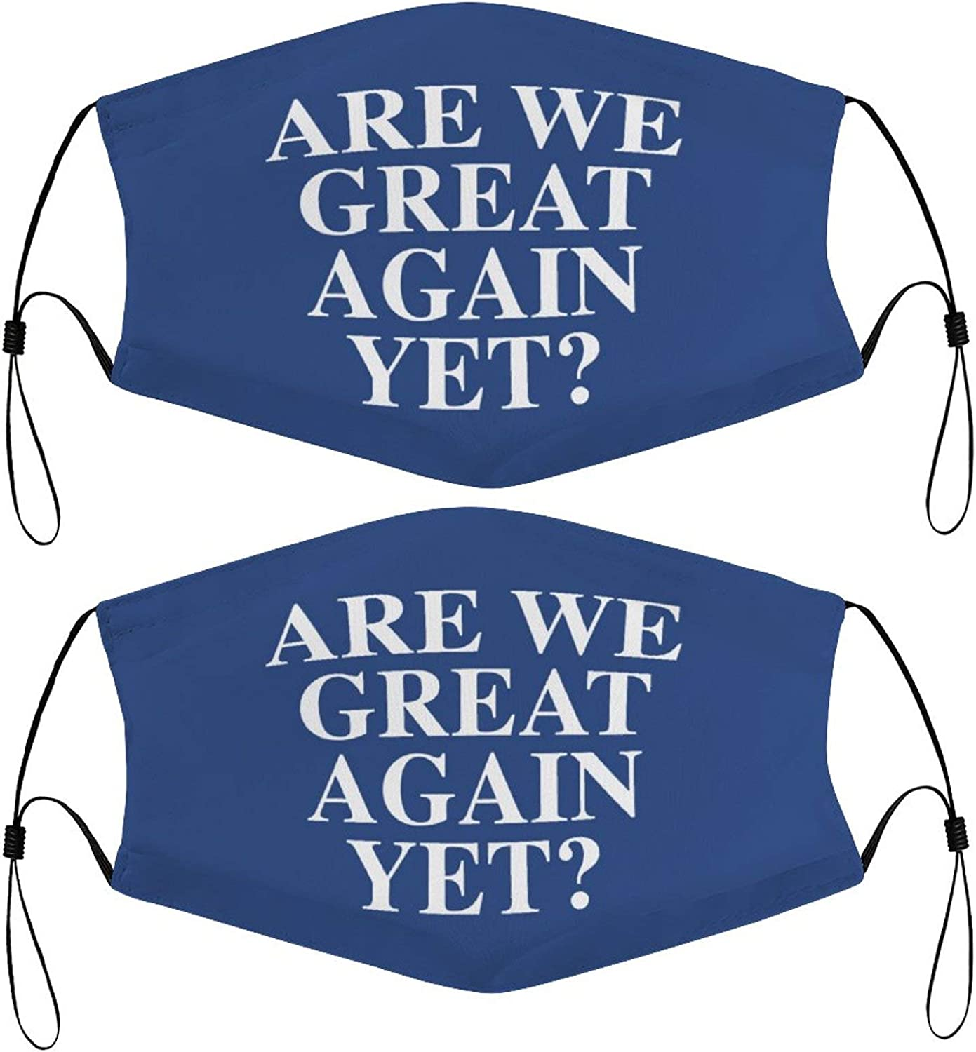 are We Great Again Yet Kids Face Masks Set of 2 with 4 Filters Washable Reusable Breathable Black Cloth Bandanas Scarf for Unisex Boys Girls
