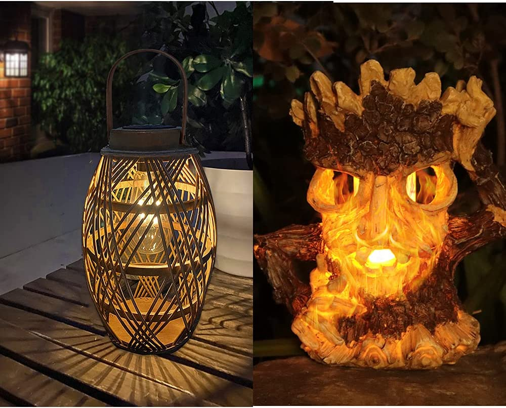 outlet pearlstar 1pack Rattan Solar Lantern Handle Pack NEW 1 with +with