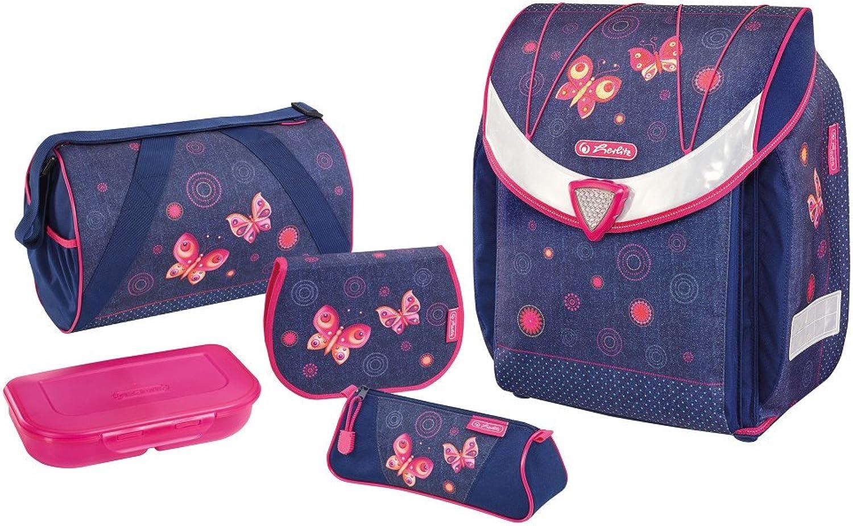 Herlitz Herlitz Herlitz Schulranzen Set  Schmetterlinge    mit Sporttasche,Schüleretui,Faulenzer  Bastelschürze B076X5JNZR | Modern Und Elegant  6c6fe9