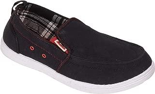 BATA Men Black Canvas Sneakers