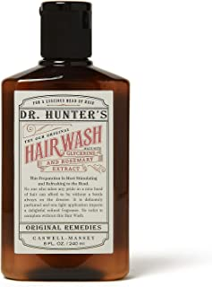 Caswell-Massey Dr. Hunter's Hairwash - Natural Hair Wash Shampoo With Glycerin and Rosemary Extract - 8 Ounces
