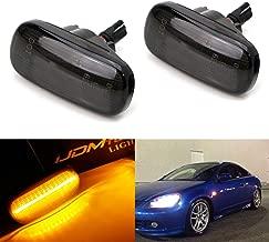 iJDMTOY Smoked Lens Amber Full LED Fender Side Marker Light Kit For JDM Spec Honda/Acura RSX Integra Civic EP3 Replace OEM Amber Sidemarker Lamps