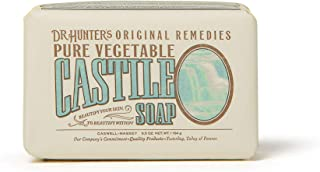 Caswell-Massey Dr. Hunter's Pure Vegetable Castile Soap – Natural Bath Soaps With Shea Butter – 6.5 Ounces