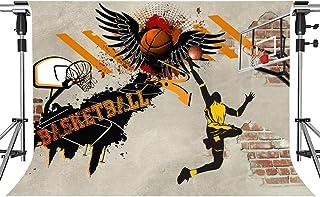 HXMT401 Basketball Hintergrund für Sport, Party, Fotografie, Basketball, Kunst, kreative Kritzelei, NBA Dunk Hintergrund, 17,8 x 152,4 cm