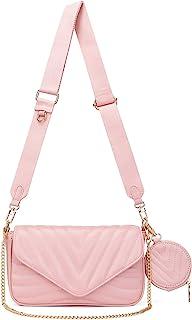 Kleine gesteppte Crossbody-Taschen für Frauen, stilvolle Designer-Geldbörsen und Handtaschen mit Münzgeldbörse und verstel...