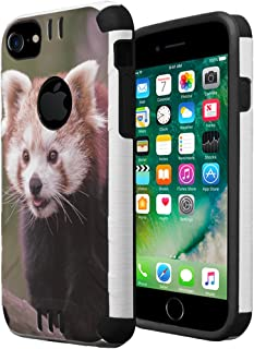 iPhone 7 Case, iPhone 6 / 6S Case, Capsule-Case Hybrid Dual Layer Silm Defender Armor Combat Case Brush Texture Finishing for Apple iPhone 7 / iPhone 6S / iPhone 6 - (Red Panda)