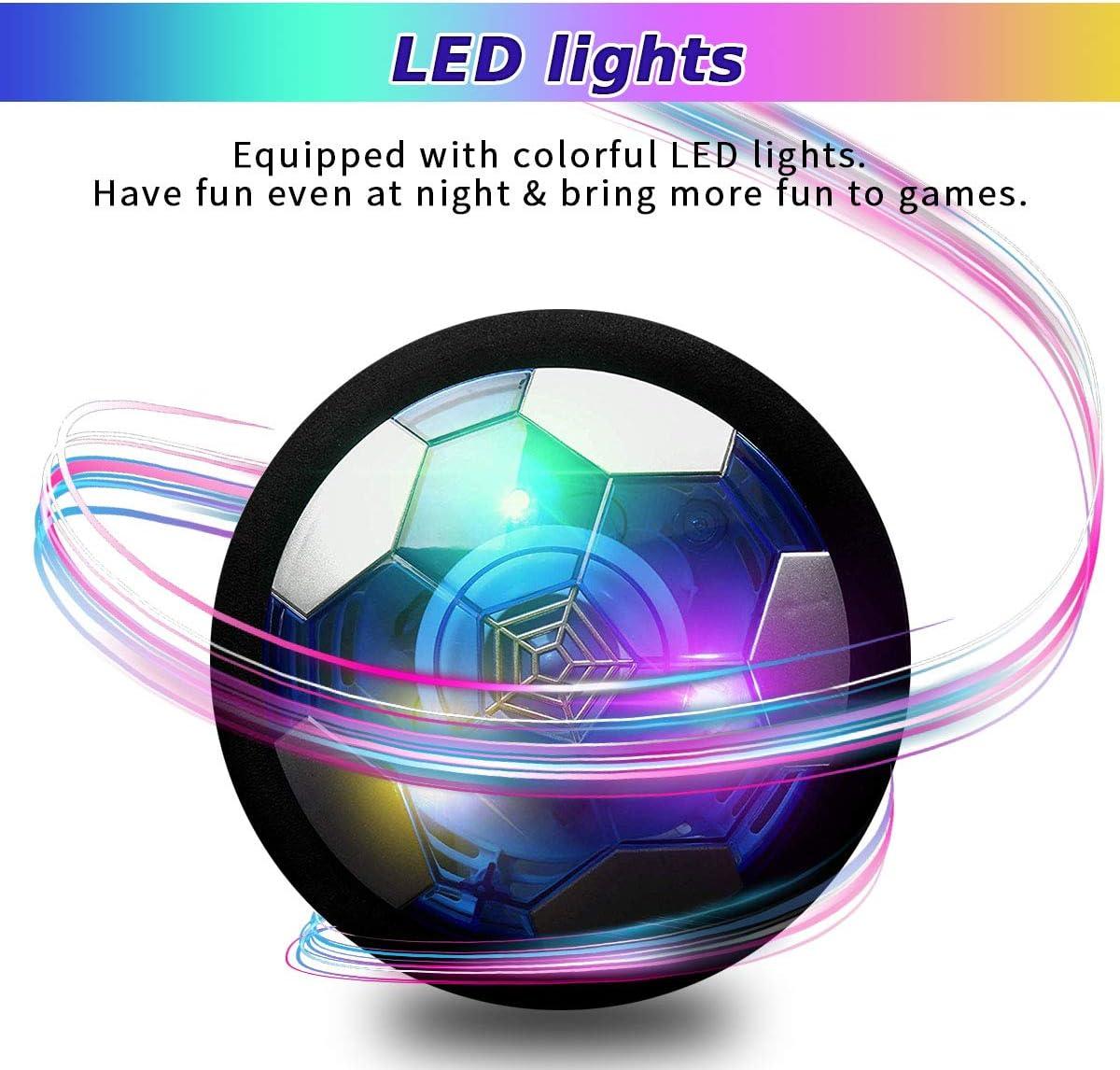 Disco de f/útbol el/éctrico con Luces LED YORKOO Hover bal/ón de f/útbol Recargable