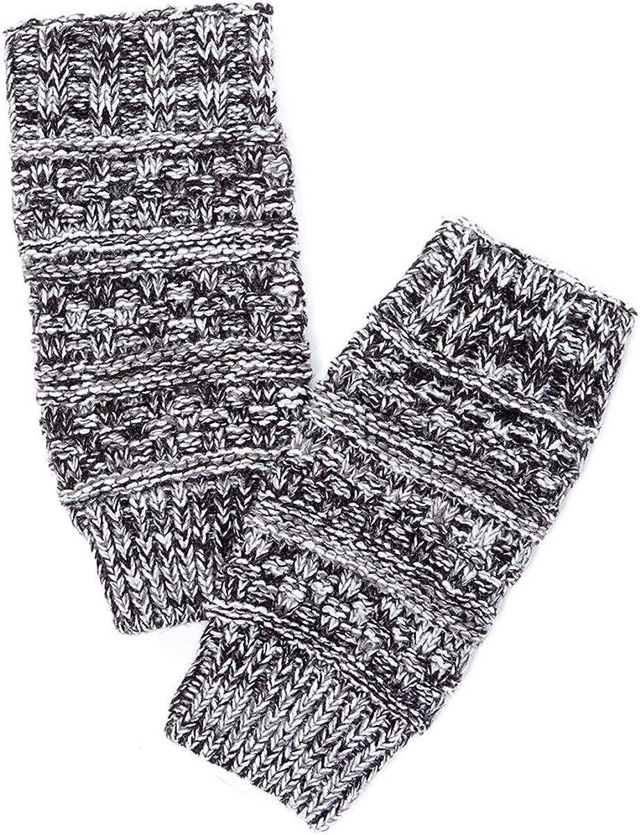 Tan's Cotton Knitted Fingerless Gloves