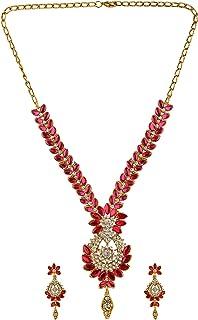 Efulgenz - Set di gioielli da sposa con collana e orecchini, con strass austriaci