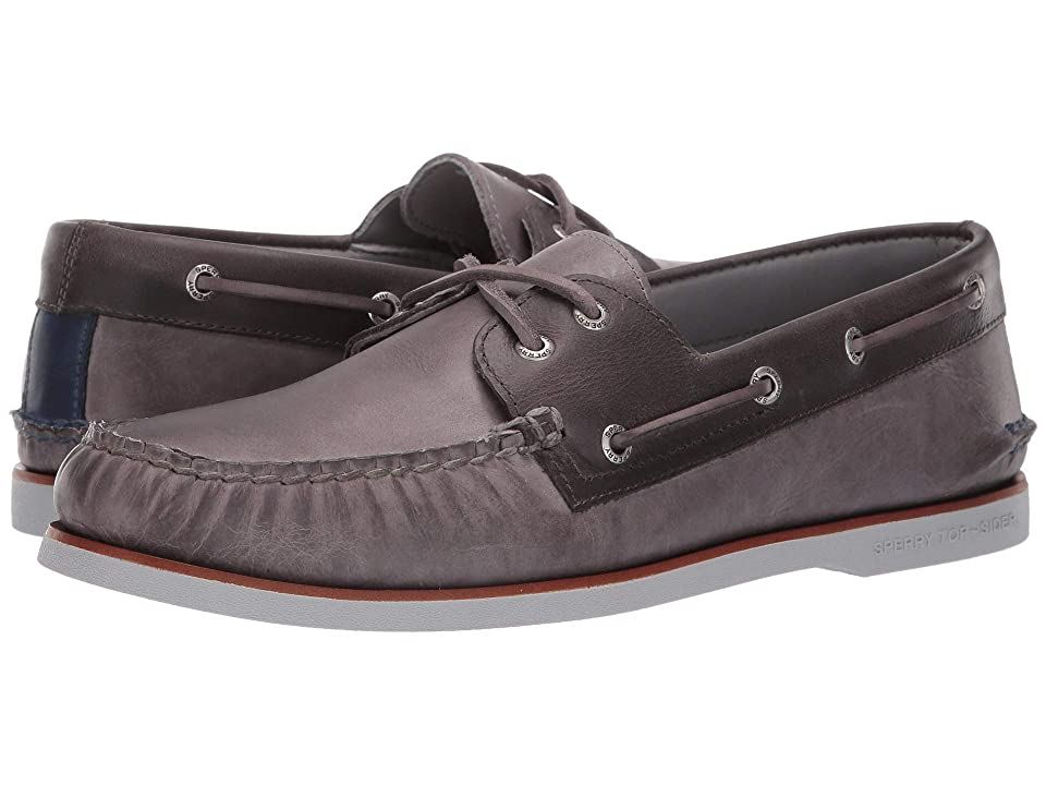 Sperry Gold Cup A/O 2-Eye Fairhaven (Grey/Charcoal) Men