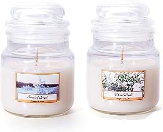 شمعة برطمان من الصويا الطبيعي | مجموعة عطور الغابة برائحة الزهور | غنية | مسبوك يدويًا | رائحة تدوم طويلاً