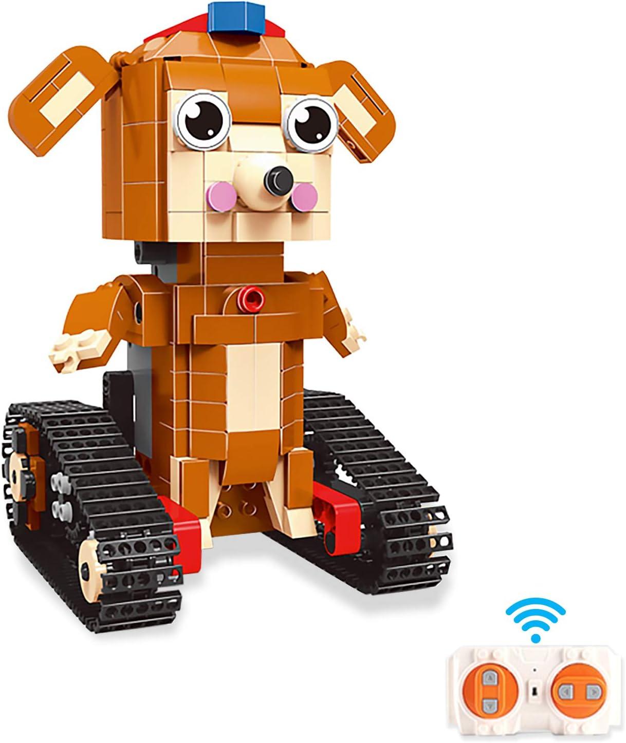 AMLINK Building Blocks Robot Toy Dog for STEM Kids Max 52% OFF 8-12 Super popular specialty store E