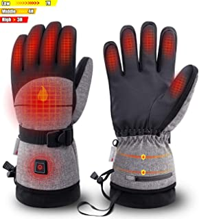 ZEROFIRE Heated Gloves with Rechargeable Battery for Men Women, Electric Heated Waterproof Ski Snowboard Gloves with 3M Thinsulate Insulated for Cold Weather,Works Time 3-10Hours