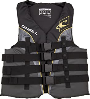 O'Neill Mens Superlite USCG Life Vest XXXL Black/Graphite/Smoke/Yellow (4723)