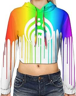 Bass-ne-ctar Warmth Women's Youth Long Sleeve Hoodie Hooded Crop Top Fashion Sweatshirt