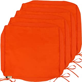 Outdoor Cushion Covers, 4-Pack Deep Seat Patio Cushion Cover, Heavy Duty Outdoor Furniture Lawn Couch Sofa Chair Seat Cushion Replacement, 24 x 22 x 4 Thick, Set of 4, Orange