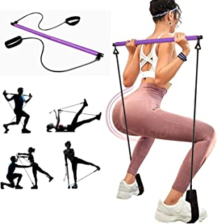 Fephant Pilates Bar Kit Portable with Resistance Band,Pilates Exercise Stick Portable Yoga Exercise Stick for Full Body Wo...