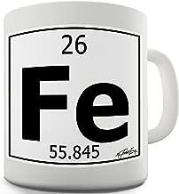 Twisted Envy Periodic Table Of Elements Fe Iron Ceramic Novelty Gift Mug