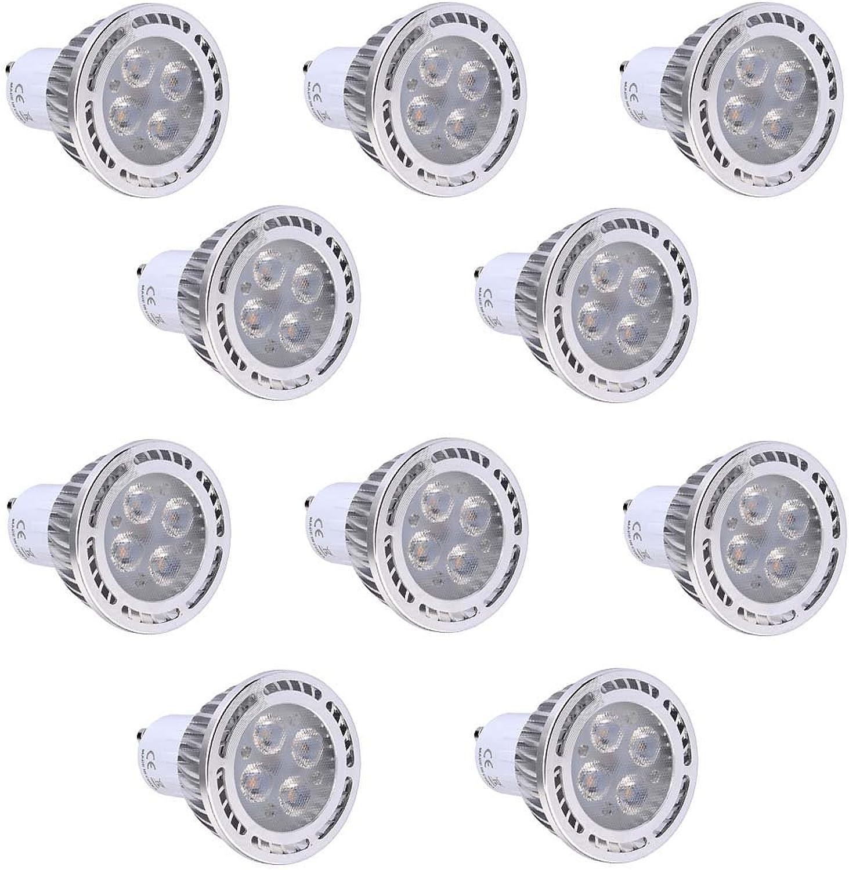 GHC LED Spotlight, GU10 4W Wechselstrom 85-265V Wechselstrom 220-240V Wechselstrom 110-130V (10Pcs) SMD 3030 300-400 LM wrmen weien kühlen weien bereiften LED-Scheinwerfer