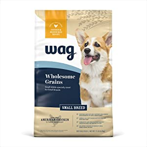 Amazon Brand - Wag Dry Dog Food Small Breed with Grains (Chicken and Brown Rice)