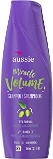 Aussie 神奇蓬松洗发水 适合细软发质 富含法地榄仁果精华和竹笋精华 不含防腐剂 12.1盎司(343.80ml)