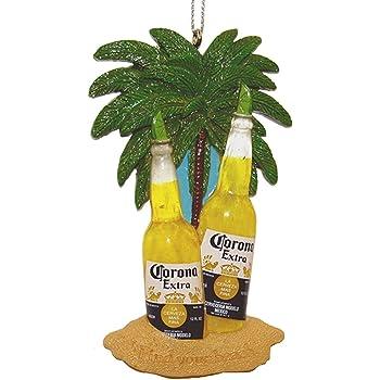Amazon Com Kurt Adler Corona Beer Bottles With Limes Under Palms On Beach Ornament Home Kitchen
