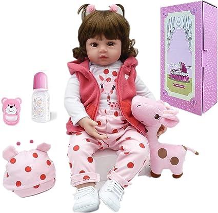 "NPK Pinky reborn réaliste 18/"" BABY GIRL Silicone vinyl doll New W Certificat"