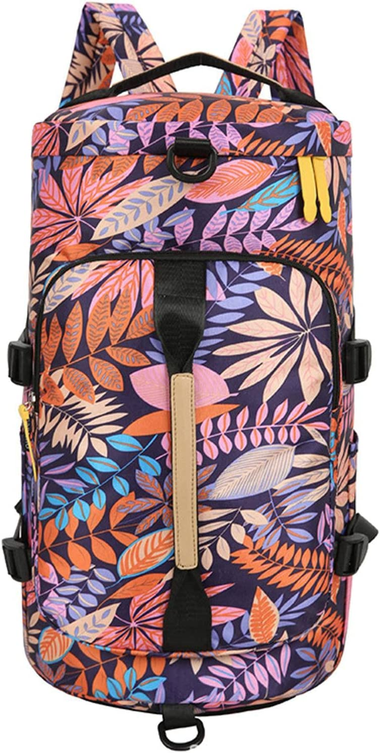 N\C Large Travel price Bucket Backpack Lugg Bag Moutaineering Spring new work one after another Printing