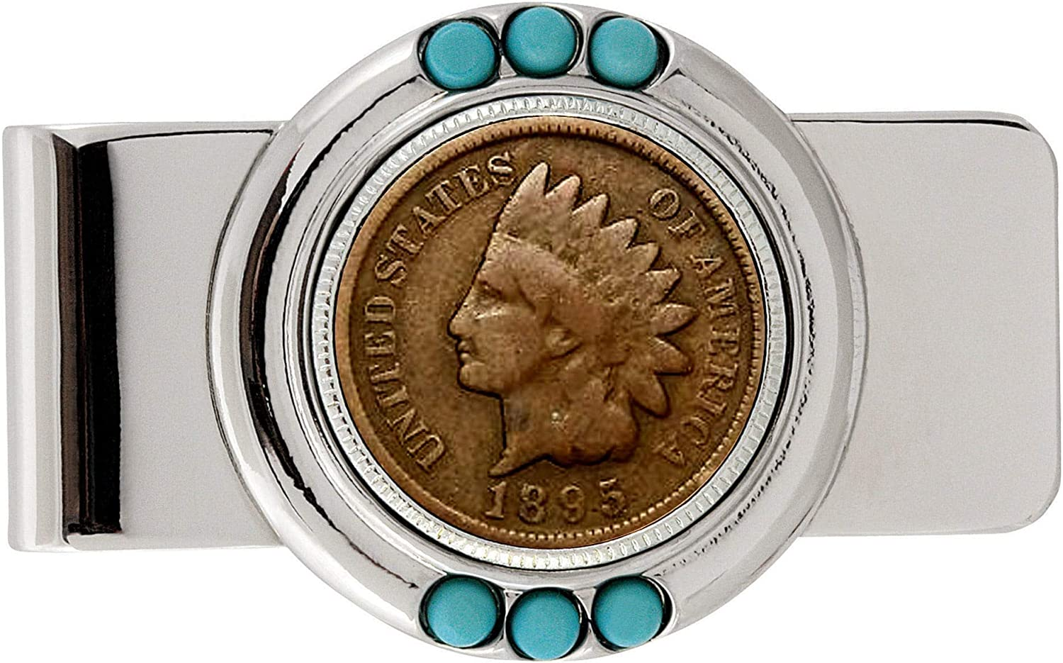 1800's Indian Turquoise Money Clip