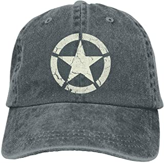 Vintage Look US Army White Star Emblem Unisex Adult Adjustable Gym Dad Hats ae6c02d1e075