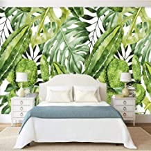 Custom Mural 3D Wallpaper Retro Hand Painted Green Banana Leaves Cactus Background Photo Wall Paper Living Room Bedroom Decoration,200x140cm