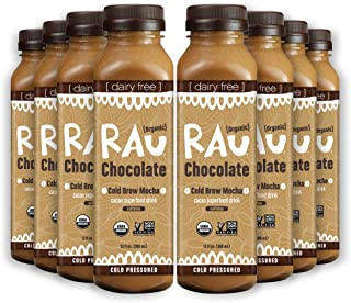 Organic Superfood Drinking Chocolate (RAU COLD BREW MOCHA) - Gluten Free, Paleo Friendly, No Preservatives, 12 Ounce (Pack of 8)