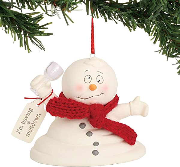 Department 56 Snowpinions I M Having A Meltdown Hanging Ornament 3 Multicolor