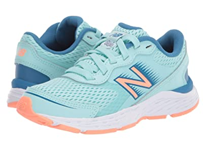 New Balance Kids 680v6 (Little Kid/Big Kid) (Bali Blue/Mako Blue) Girls Shoes