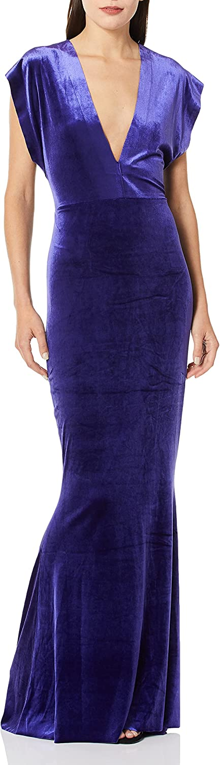 Norma Kamali Women's V Neck Rectangle Gown