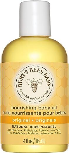 Burt's Bees Baby 100% Natural Nourishing Baby Oil Baby Skin Care - 115ml Bottle