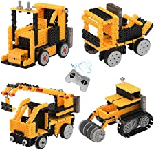 Toyard STEM Toysfor Boy Remote Control Building Kits Ingenious MachinesRobotTruck, Forklift, Bulldozer and Crane